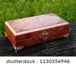 box of mahogany wawona handmade ... | Shutterstock . vector #1130356946