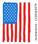 grunge american flag.vector... | Shutterstock .eps vector #1130363579