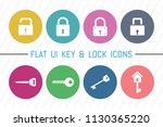 flat ui 8 color lock   key icon ...