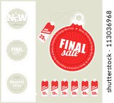 final sale labels | Shutterstock .eps vector #113036968