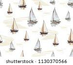beautiful botanical vector... | Shutterstock .eps vector #1130370566