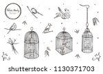 vector illustration. chalk... | Shutterstock .eps vector #1130371703