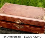 box of mahogany wawona handmade ... | Shutterstock . vector #1130372240