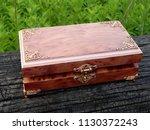 box of mahogany wawona handmade ... | Shutterstock . vector #1130372243