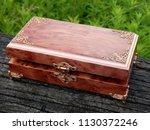 box of mahogany wawona handmade ... | Shutterstock . vector #1130372246
