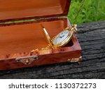 box of mahogany wawona handmade ... | Shutterstock . vector #1130372273