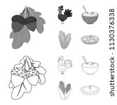 acorns  corn.arthene puree ... | Shutterstock .eps vector #1130376338