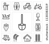 set of 13 simple editable icons ... | Shutterstock .eps vector #1130383319