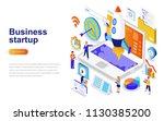 business startup modern flat... | Shutterstock .eps vector #1130385200