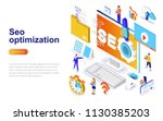 seo optimization modern flat... | Shutterstock .eps vector #1130385203