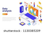 data analysis modern flat... | Shutterstock .eps vector #1130385209