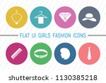 flat ui 8 color girls fashion... | Shutterstock .eps vector #1130385218