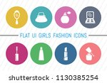 flat ui 8 color girls fashion... | Shutterstock .eps vector #1130385254