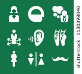 filled set of 9 people icons... | Shutterstock .eps vector #1130398040