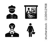 filled set of 4 people icons... | Shutterstock .eps vector #1130412908