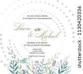 wedding invitation. card ... | Shutterstock .eps vector #1130420336