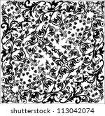 illustration with black... | Shutterstock .eps vector #113042074