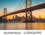 classic panoramic view of san... | Shutterstock . vector #1130426390