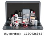 online shopping concept. laptop ... | Shutterstock . vector #1130426963