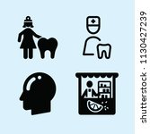 filled set of 4 people icons... | Shutterstock .eps vector #1130427239