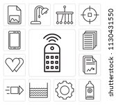 set of 13 simple editable icons ... | Shutterstock .eps vector #1130431550