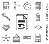 set of 13 simple editable icons ... | Shutterstock .eps vector #1130431718