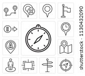 set of 13 simple editable icons ... | Shutterstock .eps vector #1130432090