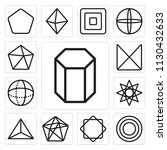 set of 13 simple editable icons ... | Shutterstock .eps vector #1130432633