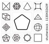 set of 13 simple editable icons ... | Shutterstock .eps vector #1130432639