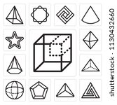 set of 13 simple editable icons ... | Shutterstock .eps vector #1130432660