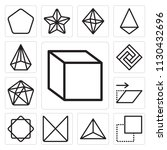 set of 13 simple editable icons ... | Shutterstock .eps vector #1130432696