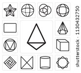 set of 13 simple editable icons ... | Shutterstock .eps vector #1130432750
