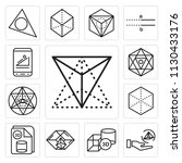 set of 13 simple editable icons ... | Shutterstock .eps vector #1130433176