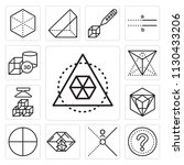 set of 13 simple editable icons ... | Shutterstock .eps vector #1130433206