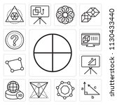 set of 13 simple editable icons ... | Shutterstock .eps vector #1130433440