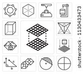 set of 13 simple editable icons ... | Shutterstock .eps vector #1130433473