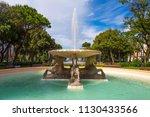 four horses fountain in rimini... | Shutterstock . vector #1130433566