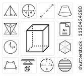 set of 13 simple editable icons ... | Shutterstock .eps vector #1130434280