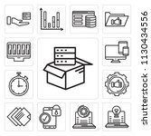 set of 13 simple editable icons ... | Shutterstock .eps vector #1130434556