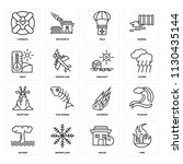 set of 16 icons such as fire ...   Shutterstock .eps vector #1130435144