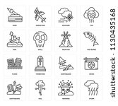 set of 16 icons such as storm ...   Shutterstock .eps vector #1130435168