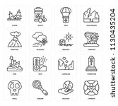 set of 16 icons such as...   Shutterstock .eps vector #1130435204