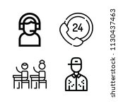 outline set of 4 people icons... | Shutterstock .eps vector #1130437463