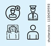 outline set of 4 people icons... | Shutterstock .eps vector #1130439593