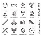 set of 16 icons such as radius...