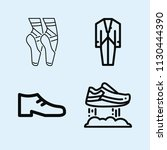 outline set of 4 fashion icons... | Shutterstock .eps vector #1130444390