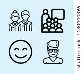 outline set of 4 people icons... | Shutterstock .eps vector #1130444396