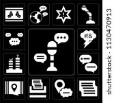 set of 13 simple editable icons ... | Shutterstock .eps vector #1130470913