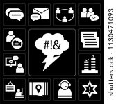set of 13 simple editable icons ... | Shutterstock .eps vector #1130471093