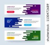 set of three vector abstract...   Shutterstock .eps vector #1130472689